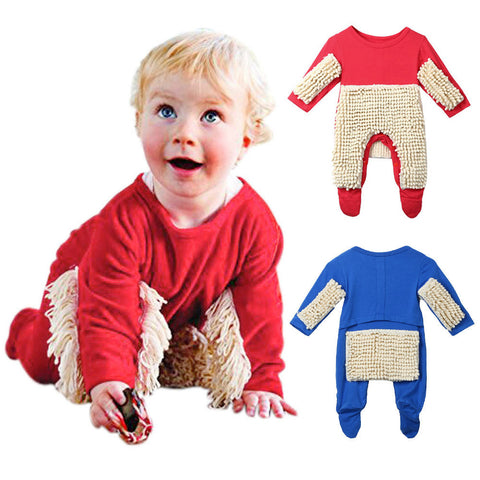 The Cutest and safest Baby Mop Rompers