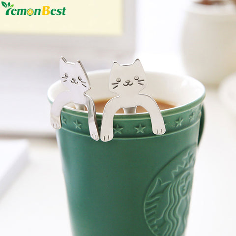 Stainless Steel Cute Cat Coffee Spoon