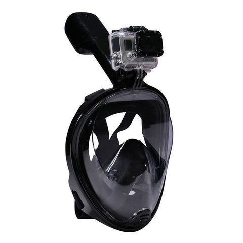 180°View Panoramic Full Face Snorkel Mask with Anti-fog Anti-leak Snorkeling Design