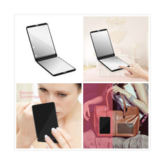 Collapsible LED Lighted Makeup Mirror With 8-LED Cosmetic Folding Lights