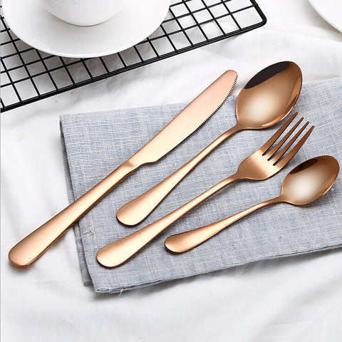 4 PCS Set Stainless Steel Dinnerware Set