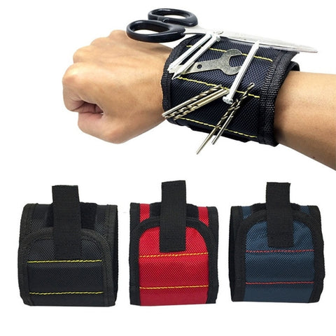 Essential Magnetic Wristband with Built-in Strong Magnets for Holding Screws Nails, Drills and Bits