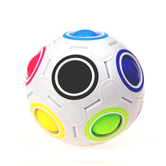 Stress Reliever Rainbow Magic Ball Plastic Cube Twist Puzzle Toys