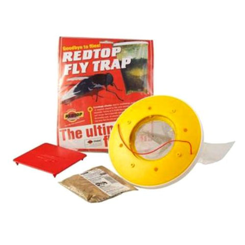 FREE REDTOP Flycatcher  - 100% Non-Toxic Disposable Outdoor Fly Trap - Red Top Outdoor fly killer - US Only
