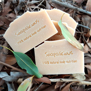 Australian Organic Eucalytpus & Lemongrass Soap with Pink Clay