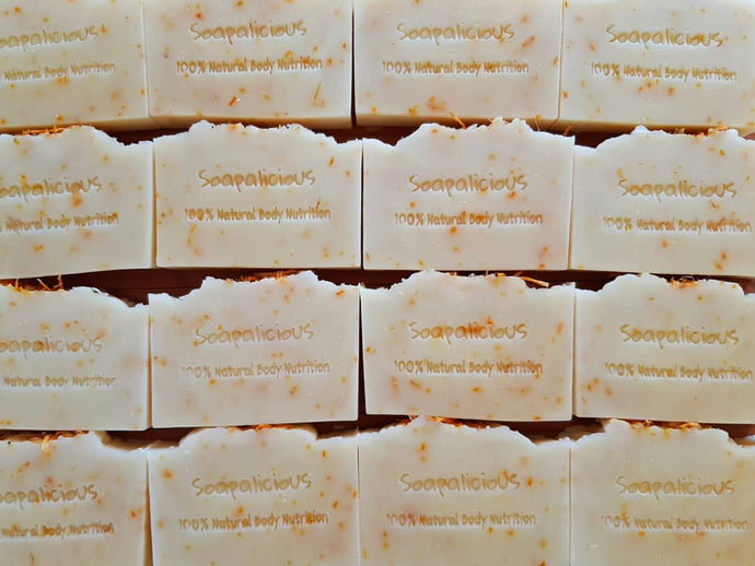Back in stock 20 April - Jesse's Homegrown Calendula & Lemongrass Soap