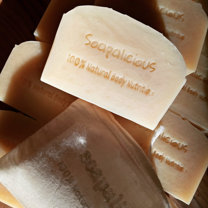 Bee-gan Soap (Raw Local Dudley Honey) with Australian White Kaolin Clay - Palm Oil Free