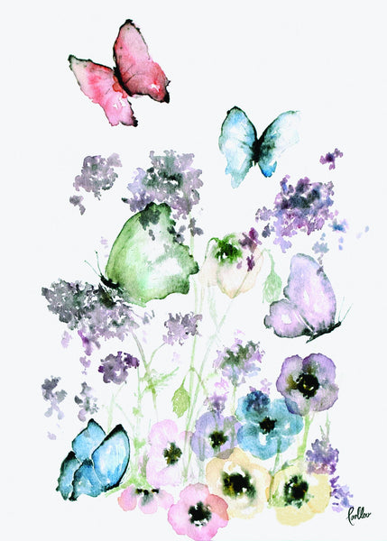 Prints Butterfly - Package with 3 pcs