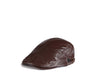 Topi Gatsby Leather Dark Brown Import