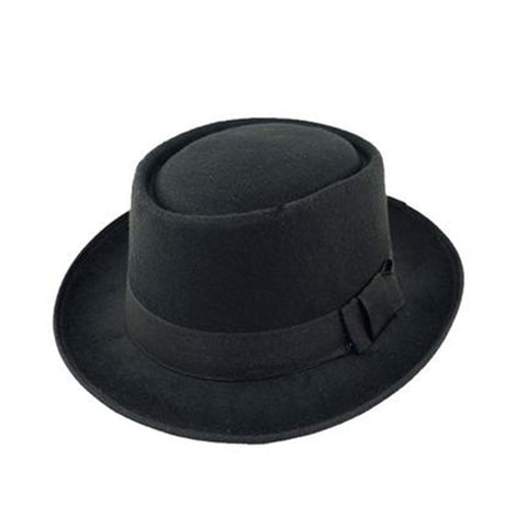 Topi Fedora Black Import