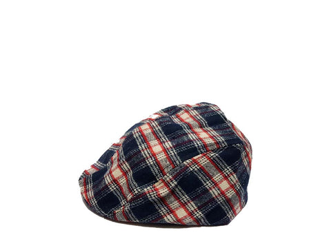 Flatcap Flannel Navy Strip