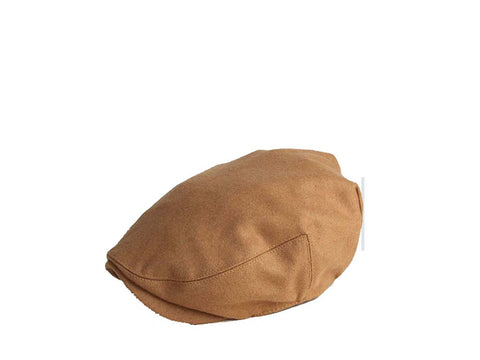 Zivton Flat Cap Cream Tan Wool