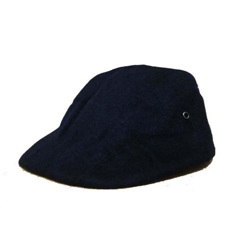 Topi Flat Cap Navy Toe Wool