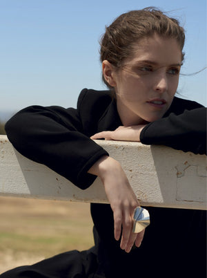 Anna Kendrick wearing ENFOLD ring