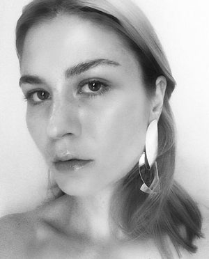 Malin Buska in PLEAT earring