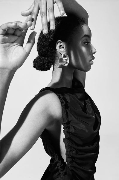 Sun earring by Sara Robertsson in Flanelle Magazine