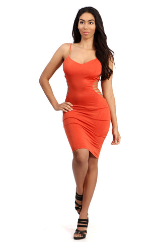 Tatiana Orange Cutout Dress