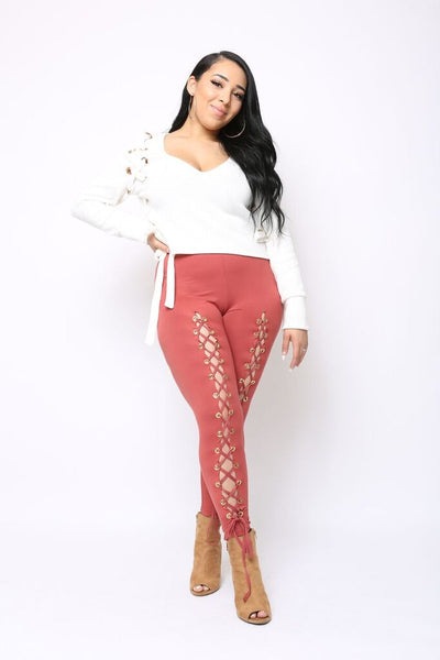 Roxie Lace-up Leggings