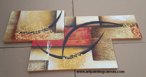 Large Group painting, Heavy Texture Wall Art Ready for Shipping