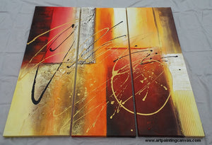Painting Samples of Abstract Art Painting, Modern Wall Art, 3 Piece Art Set, XL Large Painting