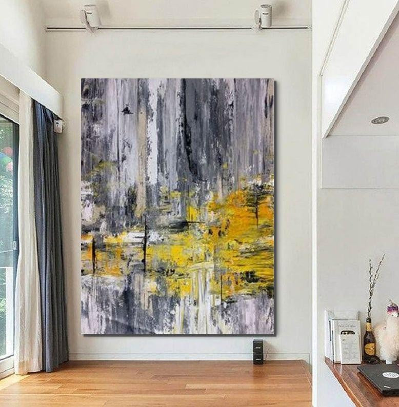 Living Room Wall Art, Extra Large Acrylic Painting, Modern Contemporary Abstract Artwork