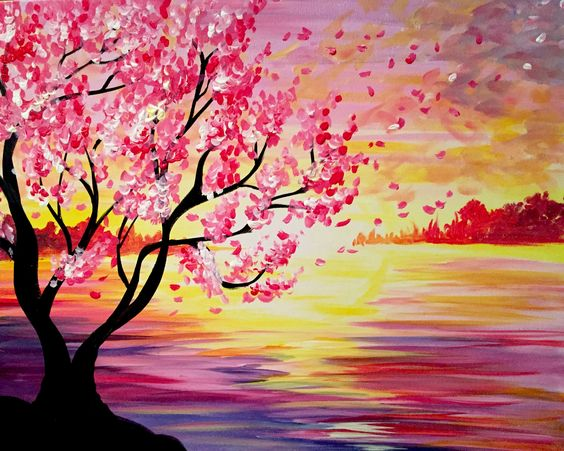 Simple Acrylic Abstract Painting Ideas, Easy Tree Painting Ideas for Beginners, Easy Canvas Painting Ideas, Easy Landscape Painting Ideas