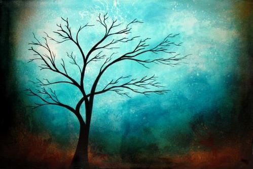 Simple Acrylic Abstract Painting Ideas, 30 Easy Tree Painting Ideas for Beginners, Easy Landscape Painting Ideas