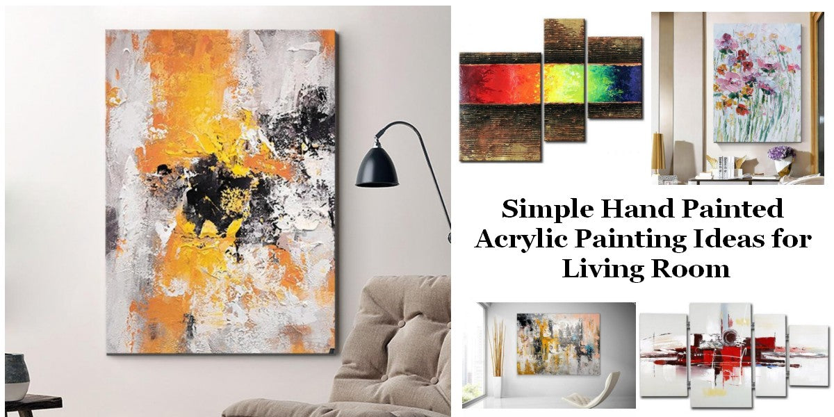 Simple Acrylic Wall Art Painting Ideas for Living Room, Easy Abstract Paintings for Bedroom, Buy Art Online, Original Modern Contemporary Paintings
