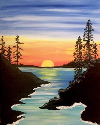 30 Easy Acrylic Painting Ideas for Beginners, Easy Landscape Paintings, Easy nature painting ideas, beginner's painting