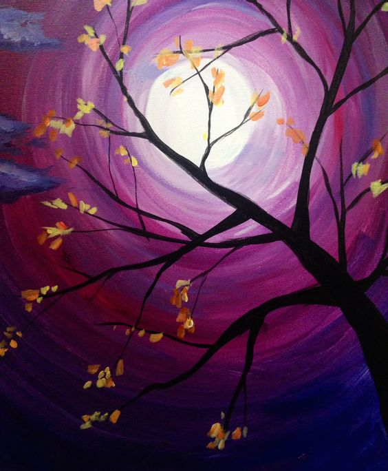 Acrylic Tree Painting Ideas for Beginners, Simple Acrylic Abstract Painting Ideas, Easy Landscape Painting Ideas