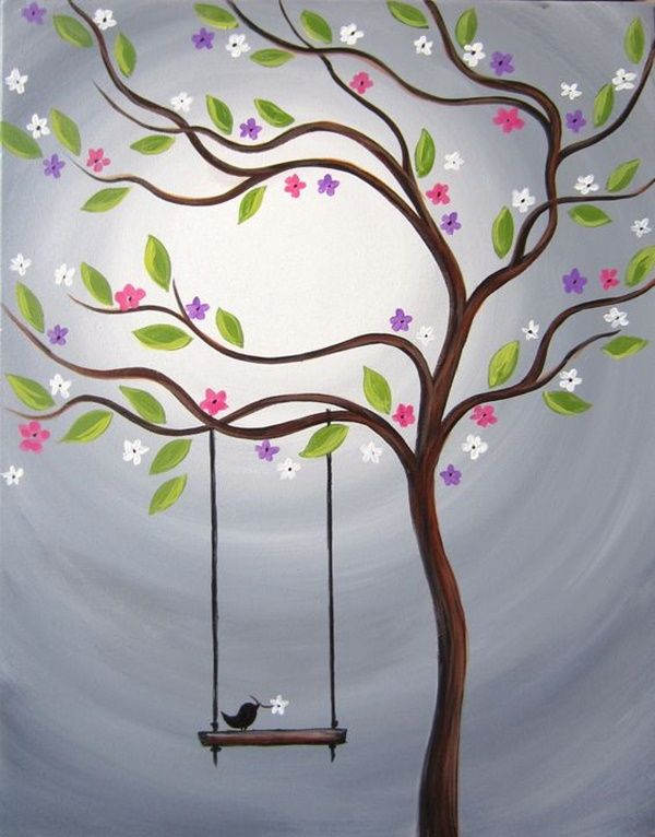 Beautiful Tree Painting Ideas for Beginners, Simple Acrylic Abstract Painting Ideas, Easy Landscape Painting Ideas