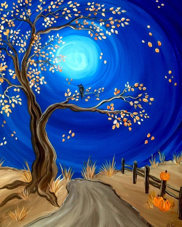 Easy Tree Painting Ideas for Beginners, Simple Acrylic Abstract Painting Ideas, Easy Landscape Painting Ideas