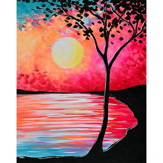 Simple Acrylic Abstract Painting Ideas, Easy Landscape Painting Ideas, 30 Easy Tree Painting Ideas for Beginners