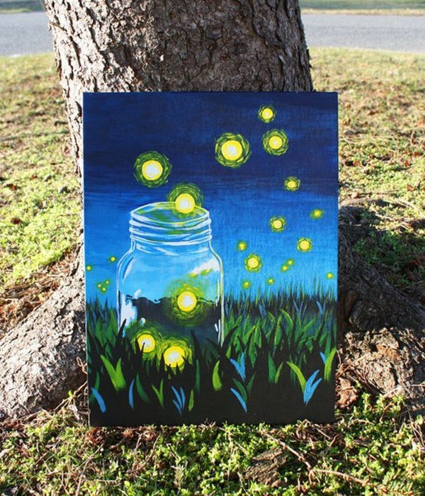 30 Easy Acrylic Painting Ideas for Beginners, Easy Landscape Paintings, Easy nature painting ideas, beginner's painting, easy canvas painting ideas