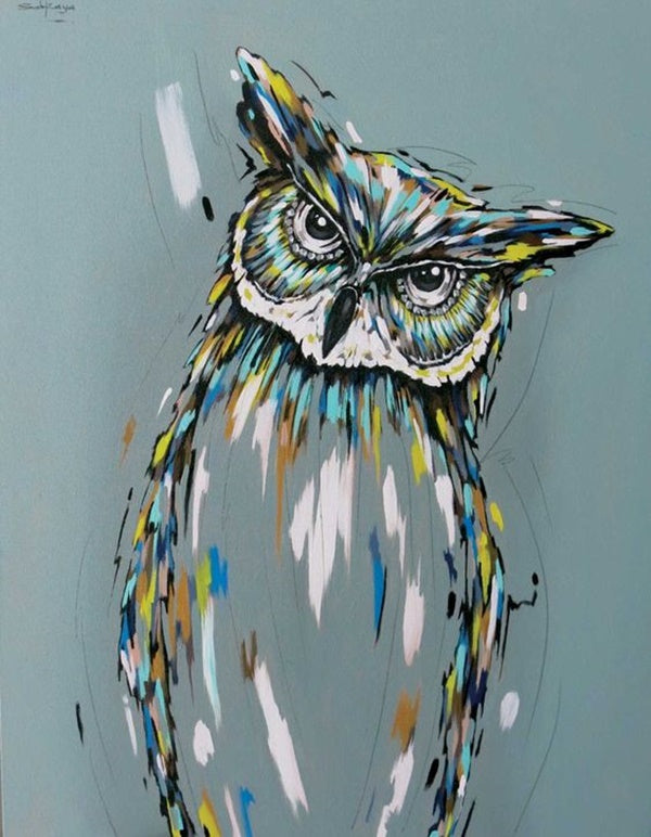 Easy acrylic painting ideas, easy canvas painting ideas for beginners, bird painting, simple abstract painting ideas, cute acrylic painting ideas