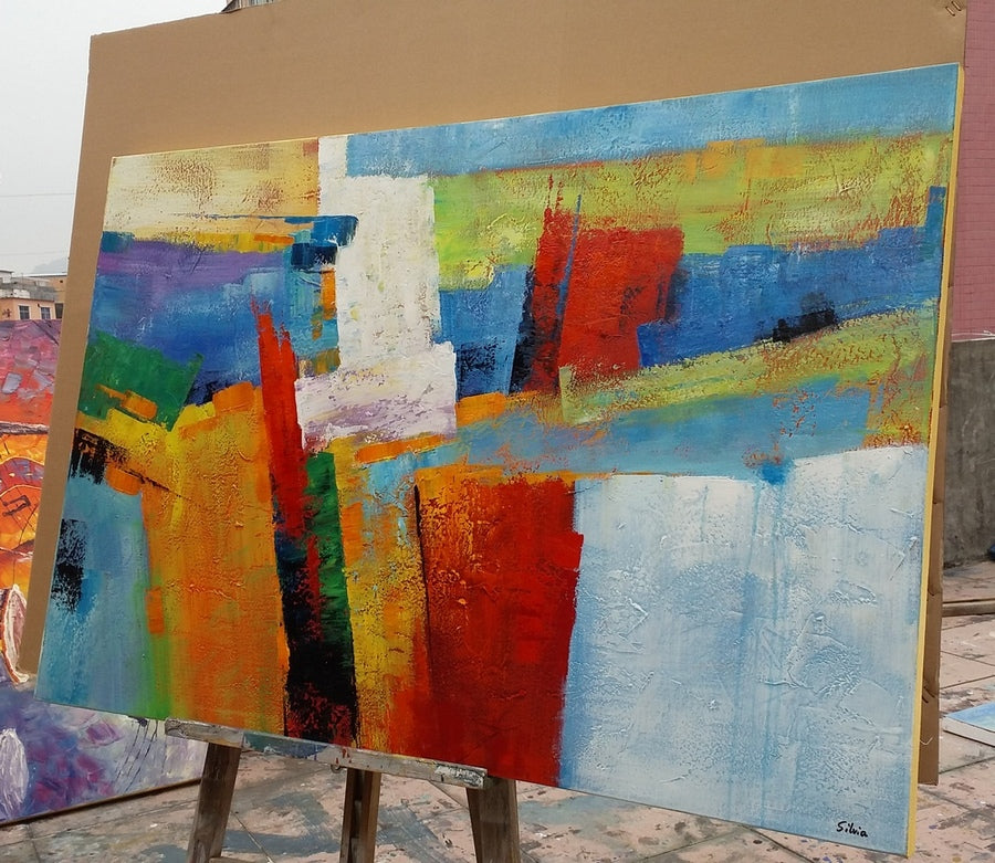 abstract painting, hand painted art