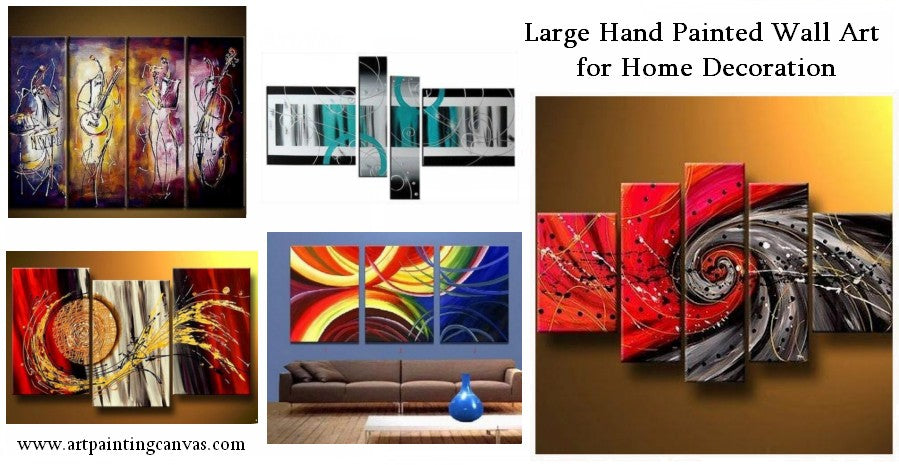 Buy large hand painted art for home decoration