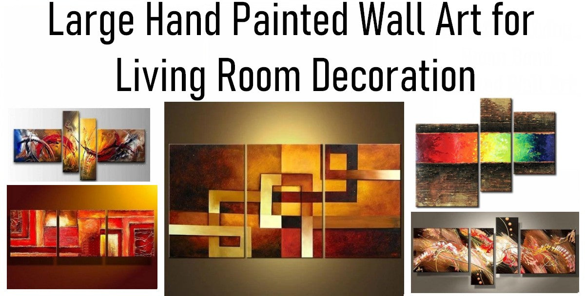 Hand Painted Acrylic Abstract Paintings, Living Room Wall Art Paintings, Modern Paintings for Living Room