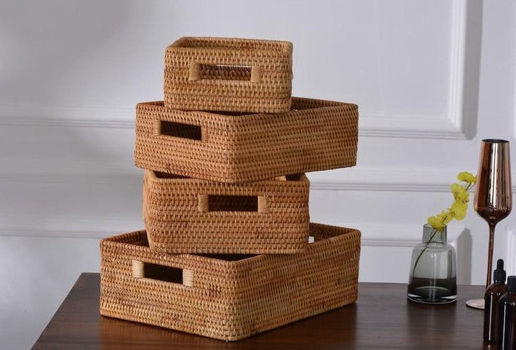 Stoage Baskets for Small Place, Storage Baskets for Shelves, Rectangular Storage Baskets, Small Storage Baskets