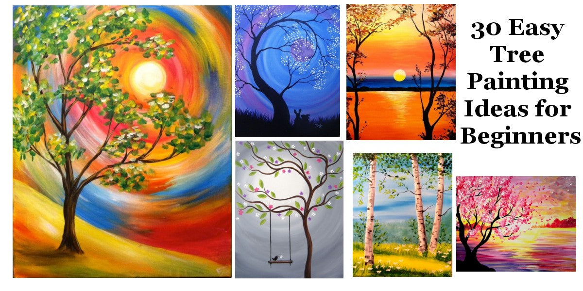 Easy Landscape Painting Ideas, Easy Tree Painting Ideas for Beginners, Simple Acrylic Abstract Painting Ideas, Easy Canvas Painting Ideas