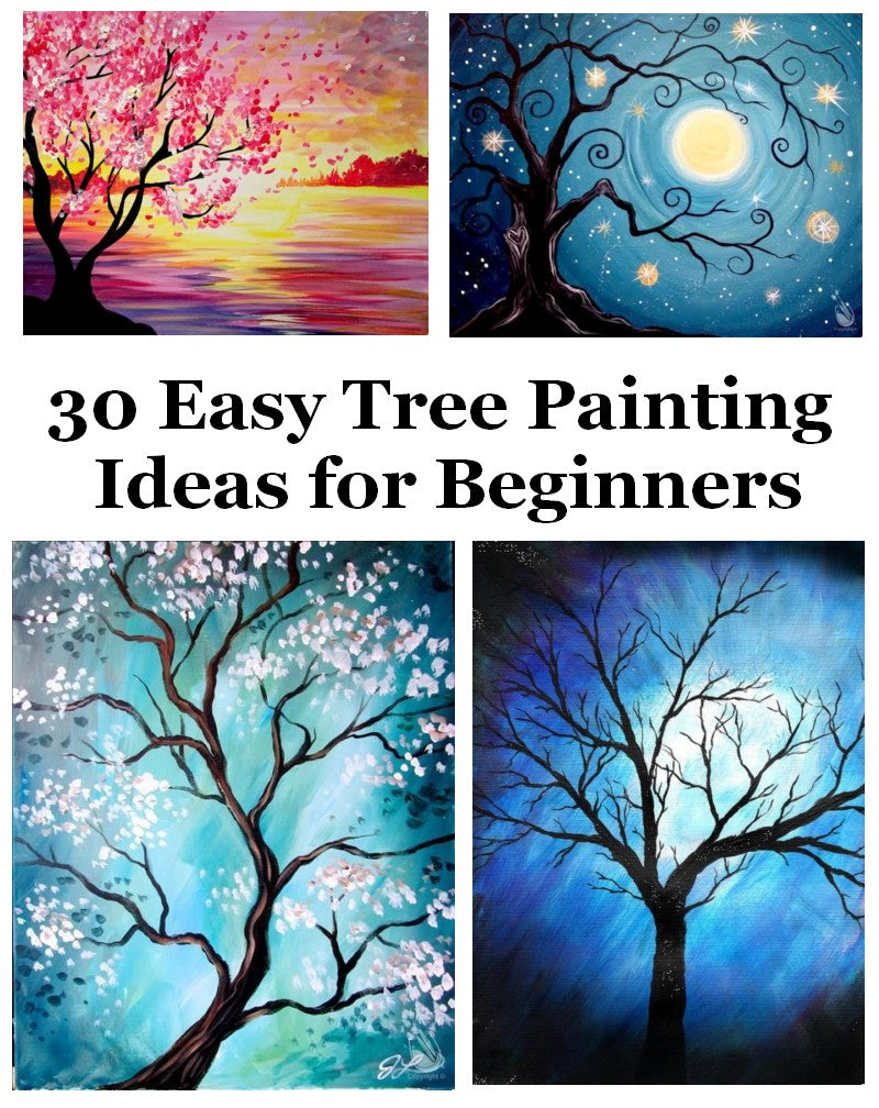 Easy Tree Painting Ideas for Beginners, Simple Acrylic Ideas, Abstract Painting Ideas, Easy Canvas Painting Ideas, Easy Landscape Painting Ideas