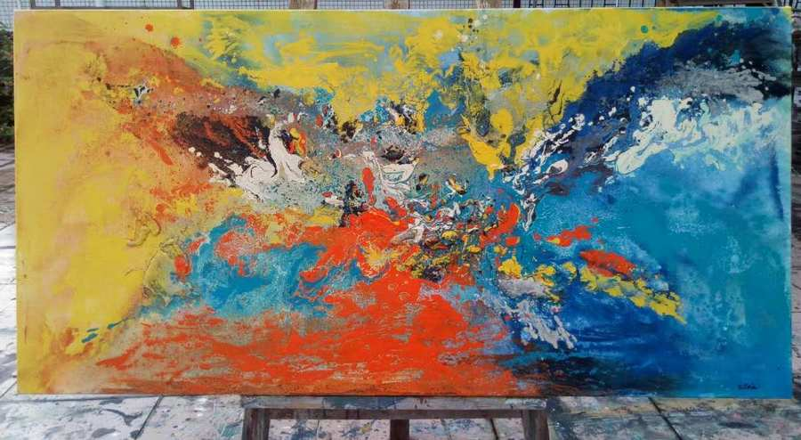 original art painting, abstract painting from artpaintingcanvas.com