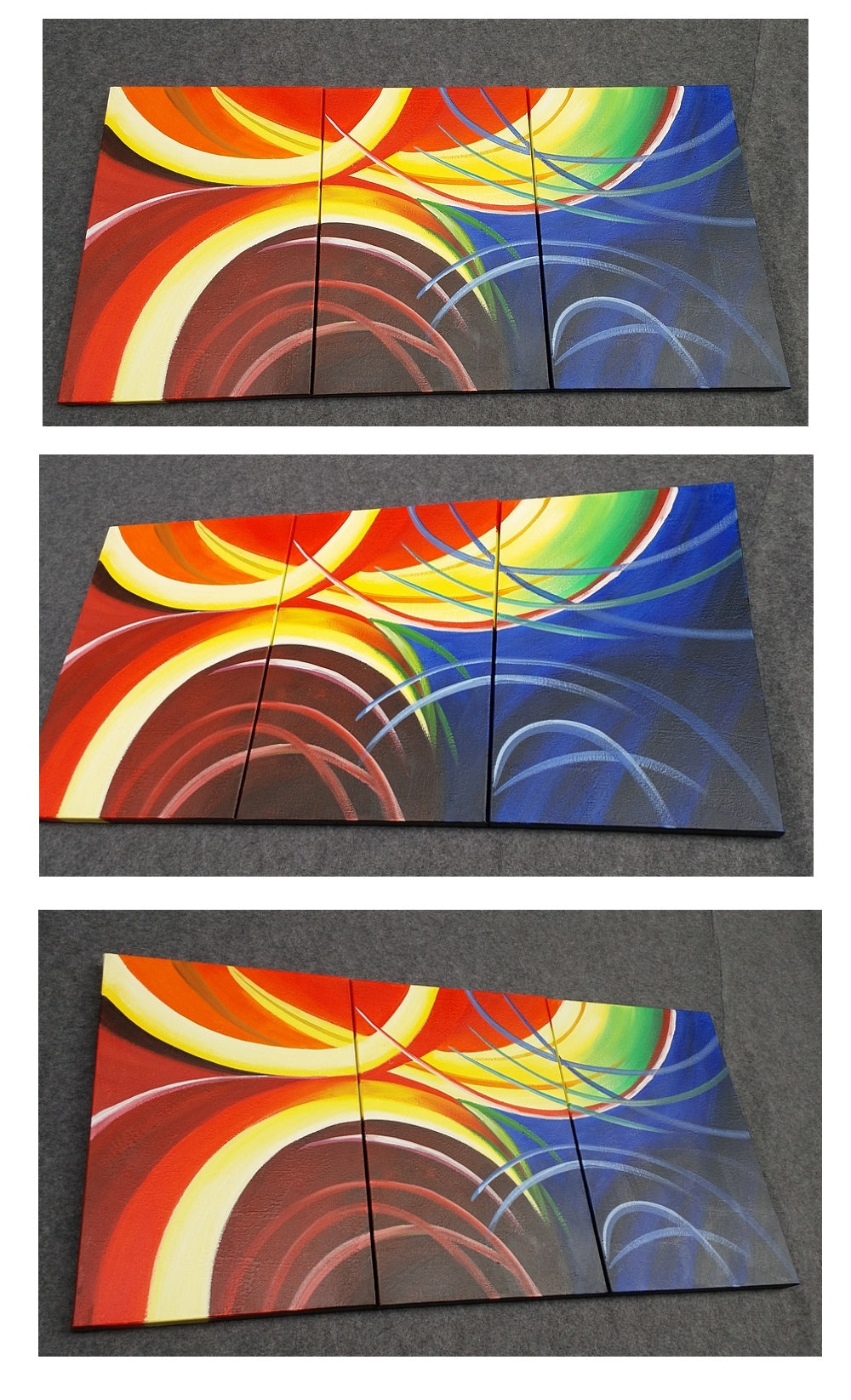 3 piece canvas art, 3 panel canvas painting, extra large wall art