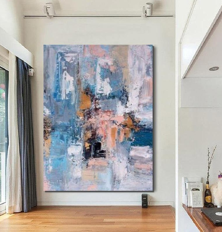 Large Acrylic Painting, Huge Paintings for Bedroom, Hand Painted Wall Art Painting, Modern Abstract Artwork