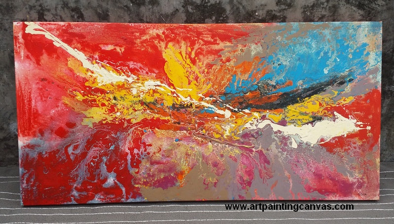 abstract painting, canvas artwork, large painting