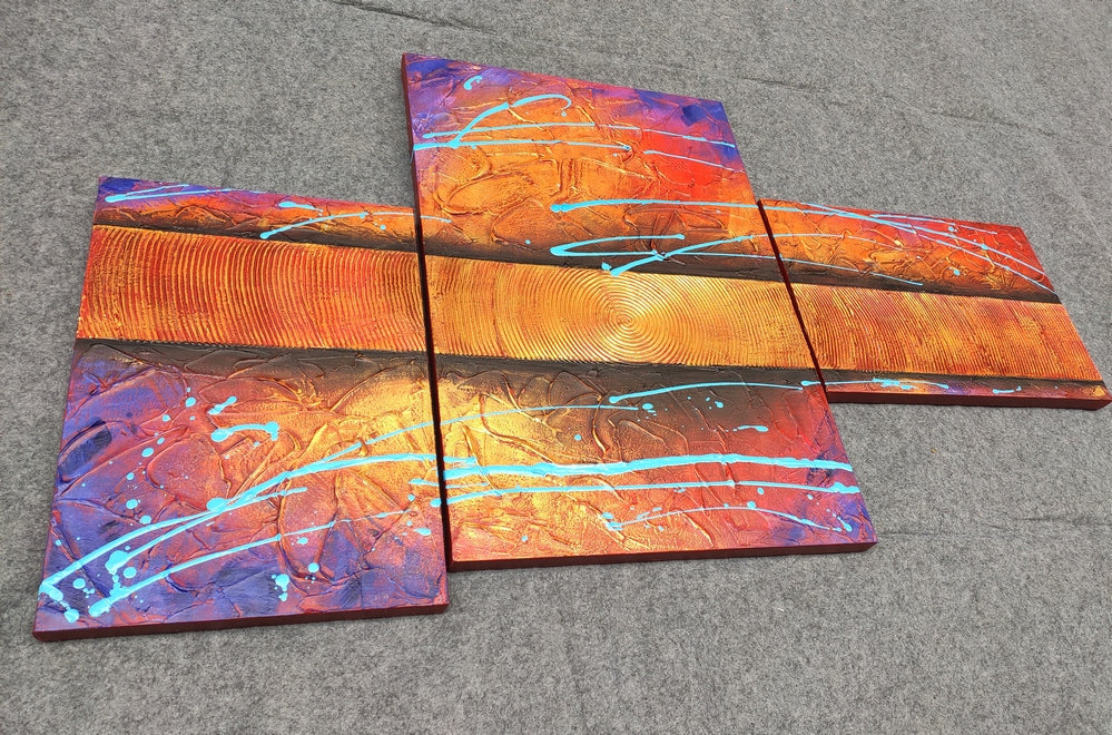 Hand Painted Acrylic Painting, Living Room Wall Art, Large Abstract Paintings