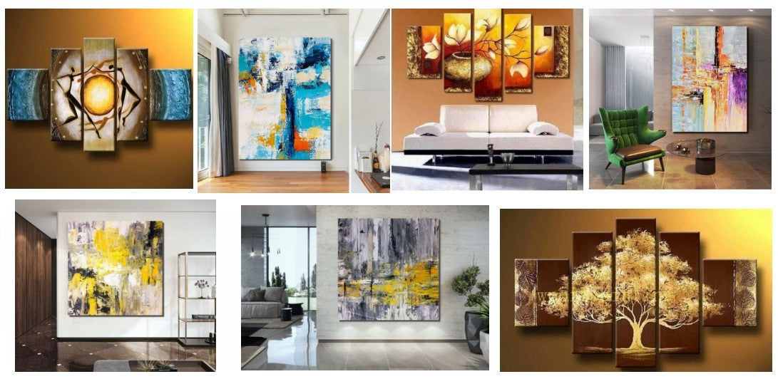 Oversized canvas paintings, modern wall art for living room, oversized wall art ideas, modern acrylic paintings, multiple canvas painting, huge wall art paintings, large painting for sale, huge painting for sale, extra large canvas paintings