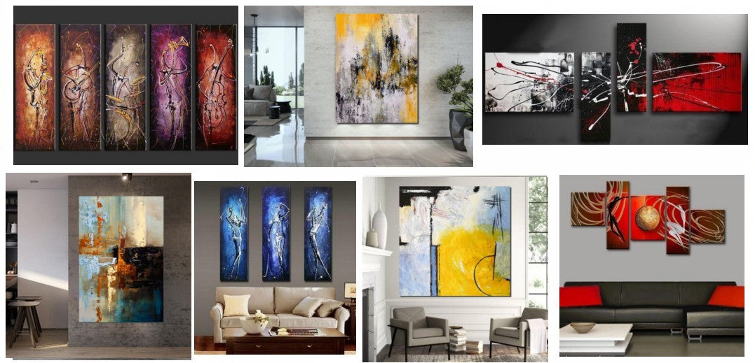 Oversized canvas paintings, oversized wall art ideas, modern acrylic paintings, modern wall art for living room, multiple canvas painting, huge wall art paintings, large painting for sale, huge painting for sale, extra large canvas paintings