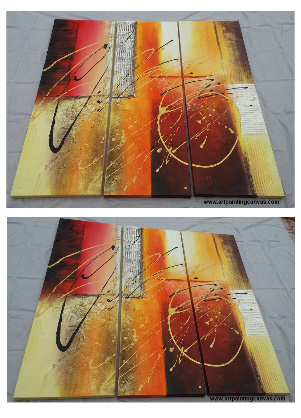 3 piece canvas art, 3 piece wall art, large canvas painting