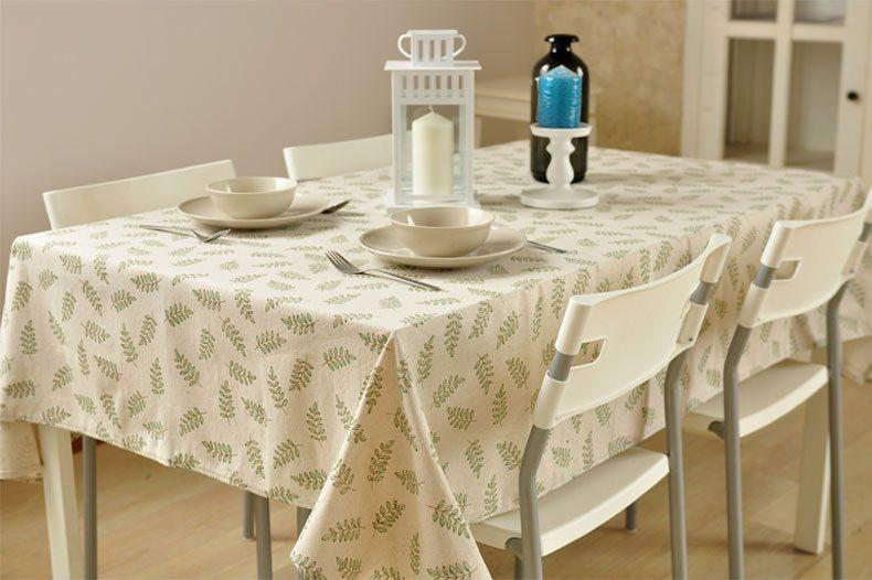 Olive Branch Tablecloth, Large Flax Table Cloth, Linen Table Cover, Rustic Table Decor